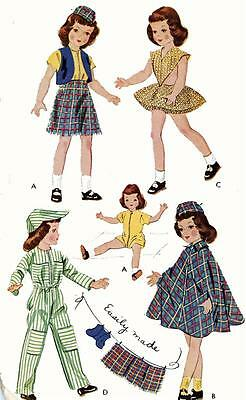 Vintage Doll Clothes Pattern 1729 for 16 inch Betsy McCall by American Character