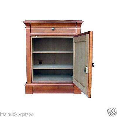 CIGAR HUMIDOR 500 + ct Large Capacity End Table Neo Maple Finish