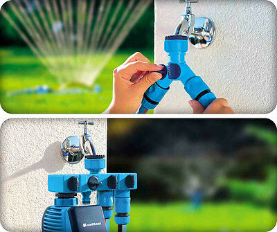 Hozelock compatible 2&4 Way Water Distributor with Shut Off for garden hose pipe