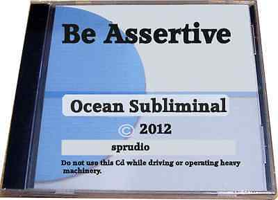Subliminal CD Be Assertive Assertive Attitude Ocean Subliminal Ocean Brainwave