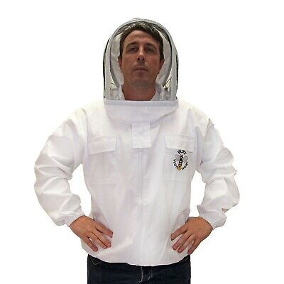 Buzz Beekeepers Jacket with fencing veil and front zip - MEDIUM