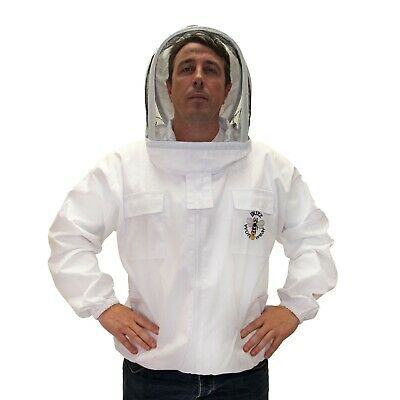 Buzz Beekeepers Jacket with fencing veil and front zip - LARGE