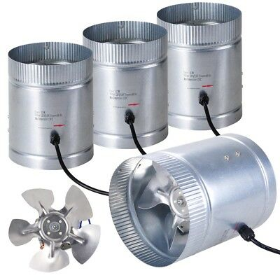 """4 Inline Duct Booster Fan 6"""" 260CFM Exhaust Blower For Home Grow Light Tent Room"""