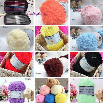 Super soft Double Knitting Chunky Towelling Wool Ball Skeins Yarn new -C