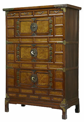 19Th Century Large Chinese Elm Cabinet Cupboard