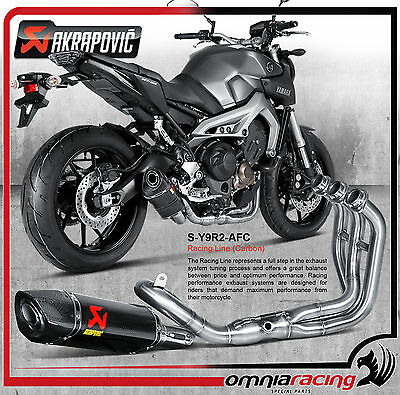 Akrapovic S-Y9R2-AFC - Yamaha FZ-09 / MT-09 13> Full Exhaust System Carbon