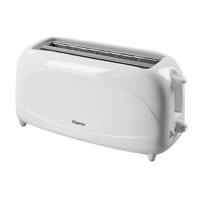Elgento 4 Slice White Cool Touch Electric Toaster New