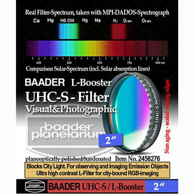 "Baader Planetarium 2"" UHC-S Nebula Filter for Telescope  # FUHC-2  # 2458276"