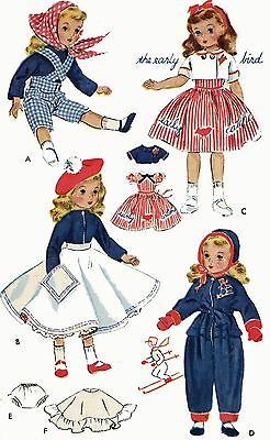 Vintage Doll Clothes Pattern 1720 for 15 inch Sweet Sue by American Character