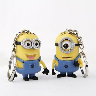 Minion Keychain Lovely Despicable Me2 3D Minions Keyring Ornaments (Set Of 2)