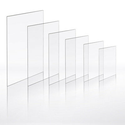 Clear Acrylic Flexi PERSPEX 1.2mm Craft Hobby Picture Photo Frame Sheet Easy Cut