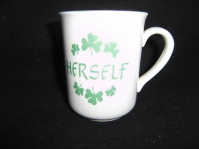 """HERSELF"" Mug from Carrigaline Pottry of Ireland   NEW"