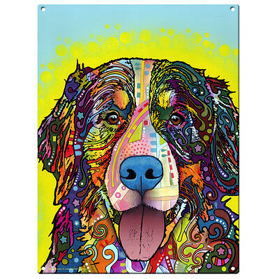 Bernese Mountain Dog Dean Russo Pop Art Sign Pet Steel Wall Decor 12 x 16