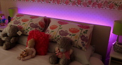 Pink LED Headboard Light Set In  5 Sizes With Remote Control Option