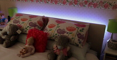 White LED Headboard Light Set In  5 Sizes With Remote Control Option