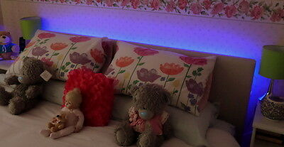 Colour Changing LED Headboard Light Set In 5 Sizes 24 Key Remote Control