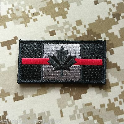 Thin RED Line CANADIAN Flag Patch, Firefighters