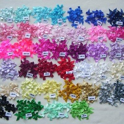 25/50/100 Satin Bows 2.5-3Cm (Lots Of Colours To Choose From