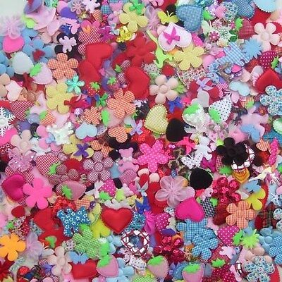 Mixed Embellishments, Flowers, Bows, Butterflies, Hearts(Choose Your Qty)