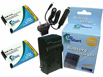 2x Battery +Charger +Car Plug +EU Adapter for Samsung EX1, ST1000, WB1000