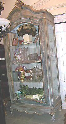 Late 19th Century Louis XV Provincial Style Vitrine / Display Cabinet