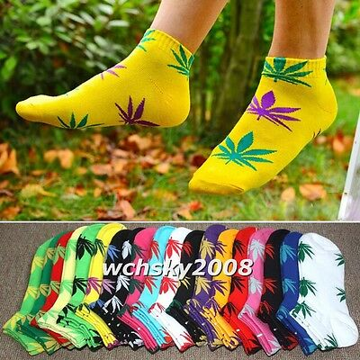 Marijuana Weed Leaf Low Cut Ankle Cotton Socks Sport Casual Socks for Men Women