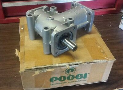 "NEW  Poggi 1:1 Ratio 3/4"" Shaft  2 Way Right Angle Gearbox"