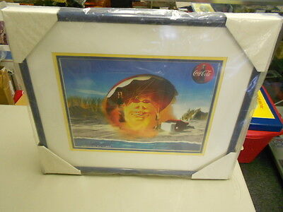 Coca-Cola Animation Art Cell Framed & Matted Summer Fun Very Rare #227/2000