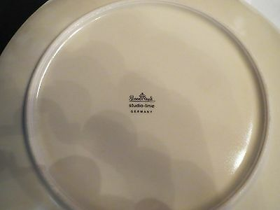 Dinner Plate by Rosenthal studio-linie Germany signed by Dorothy Hafners on top