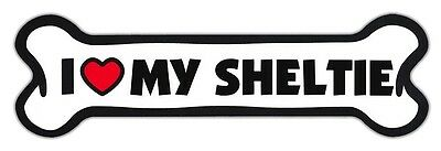 GIANT SIZE!!! Dog Bone Magnets: I Love My Sheltie (Shetland Sheepdog) | Cars