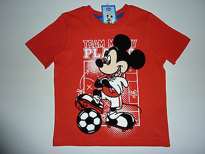 DISNEY Gorgeous Little Mickey Mouse Red Footie T-Shirt NWT