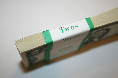 25 New Uncirculated  2  Two Dollar Bills from BEP Pack