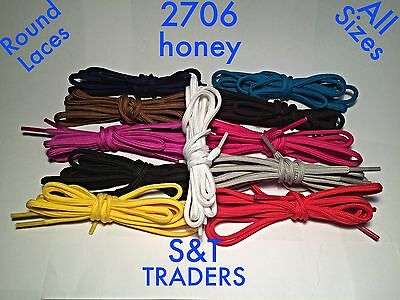 ROUND / OVAL SHOE LACES 5mm WIDE 13 COLOURS SHOE TRAINER BOOT LACES 6 LENGHTS