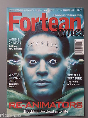R&L Mag: Fortean Times October 2000, Frankenstein/Glozel/Mars Worms/Sick Doctors