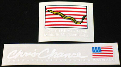 Fat Chance flag and signature decals - white lettering (sku 723)