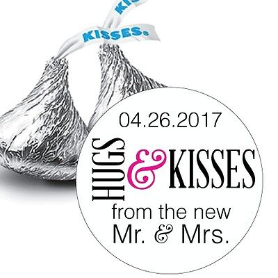 108 Colorful Hugs & Kisses from the Mr. & Mrs. Hershey Kiss Stickers Favors