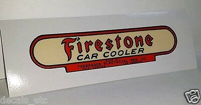 Firestone / Thermador Car Cooler Sticker, evaporative swamp cooler decal 4.5""