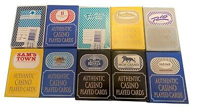 10 x DECKS OF LAS VEGAS CASINO POKER PLAYING CARDS - FREE P+P
