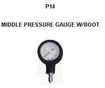 Intermediate, middle, inspector, 1st stage pressure gauge. P14 Red Hat Diving
