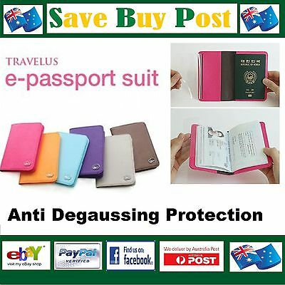 Anti-Degaussing Passport Wallet Travel Holder Cover Anti Magnetic Scan or Damage
