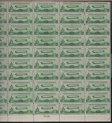 #c18 Full Sheet Of 50 Vf Og Nh Cv $4,965 Wl6666