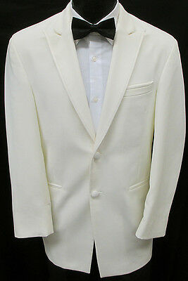 Ivory Chaps Ralph Lauren 2 Button Tuxedo Dinner Jacket Wedding Cruise Formal 40L