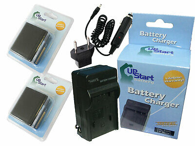 2x Battery+Charger+Car Plug+EU Adapter for Canon XL1, XL H1, XH G1, BP-955