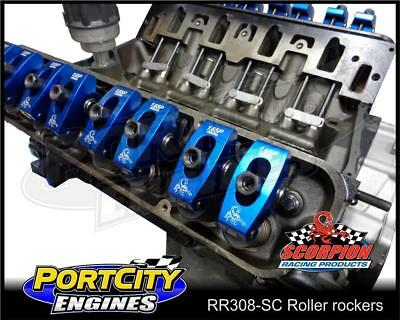 "Roller rockers for Holden 253 308 5.0L V8 1.65 ratio, 7/16"" stud mount Scorpion"