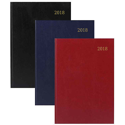 A4 / A5 & Slim Day Per Page / Week to View Hardback Calendar Diary 2018 -TAL