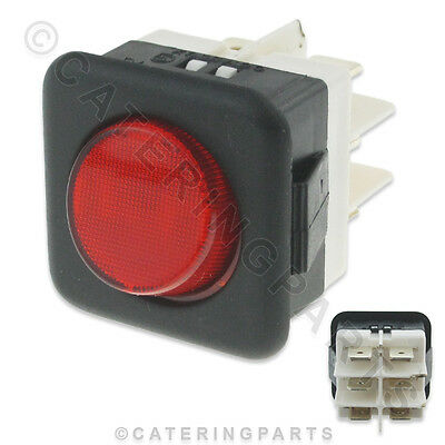 Classic Classeq 7.12.4/5 Red Illuminated On / Off 240V Square Rocker Switch