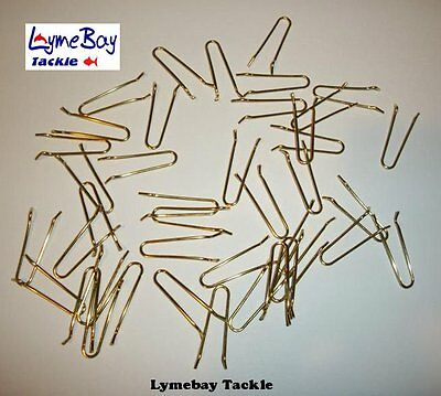 100  Ajusti Brass Top Loops - Sea Fishing, Carp Fishing, Lead Weight Moulds, DCA