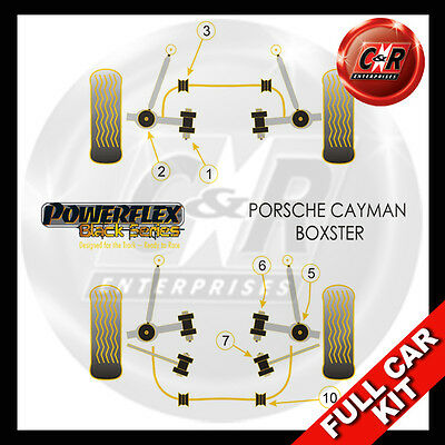 Porsche Boxster (97-04) Powerflex Black Complete Bush Kit