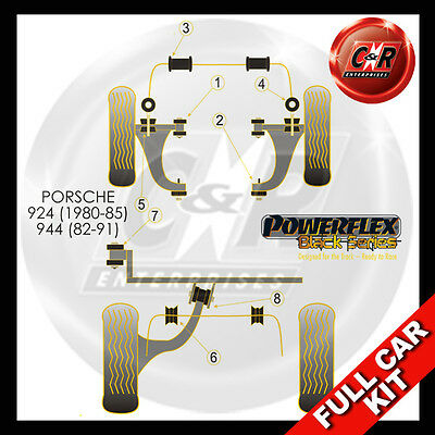 Porsche 924 and S (all years)  Powerflex Black Complete Bush Kit