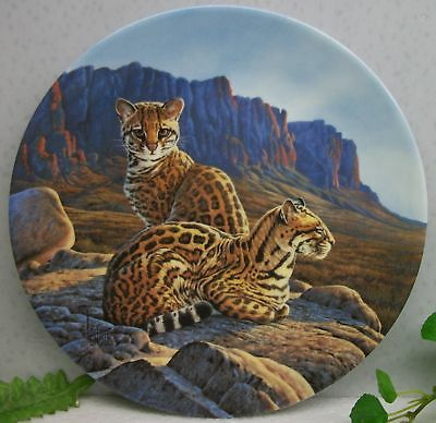 Bradex Knowles Great Cats of the Americas OCELOT Collector Plate #4  COA
